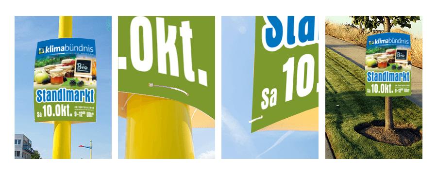 Allwetterplakate für Standlmarkt