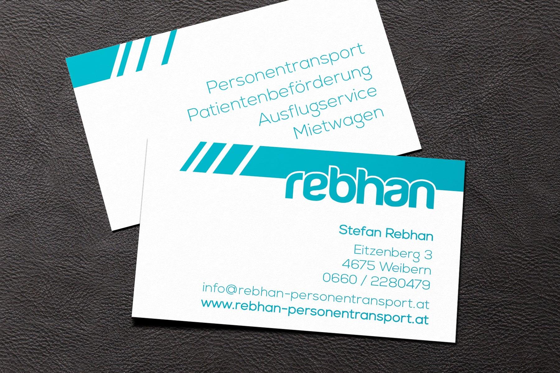 Corporate Design und Fahrzeugbeschriftung Rebhan Personentransport
