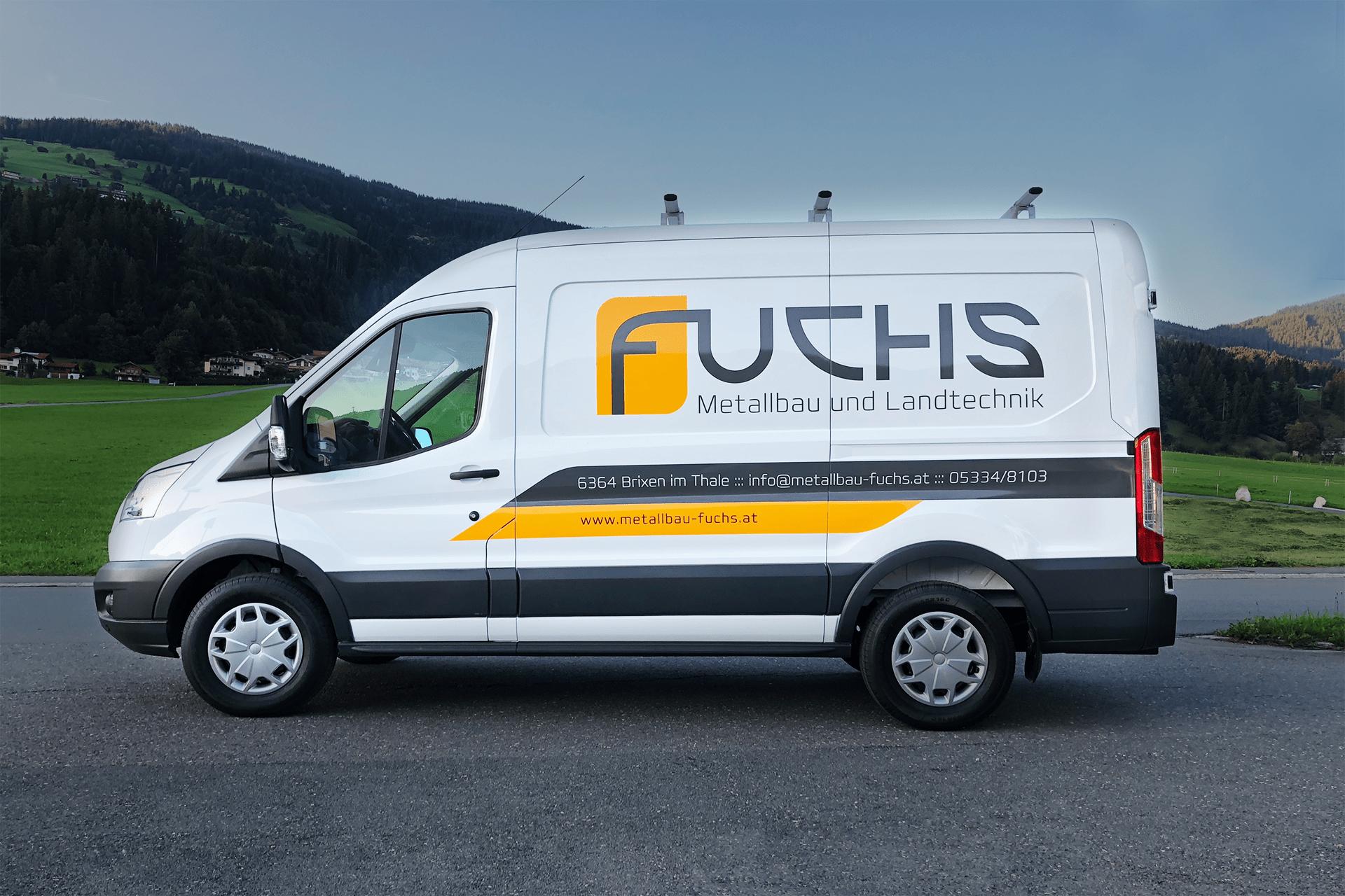 KFZ-Beschriftung Metallbau Fuchs